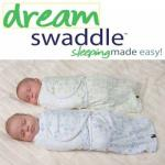 Puck-Tuch blau-weiss Dream-swaddle