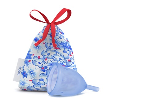 Ladycup blau Blüemli