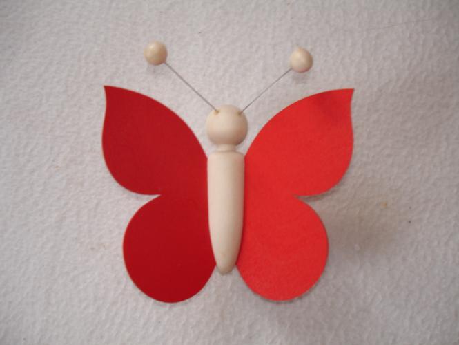 Schmetterling rot 5x5cm