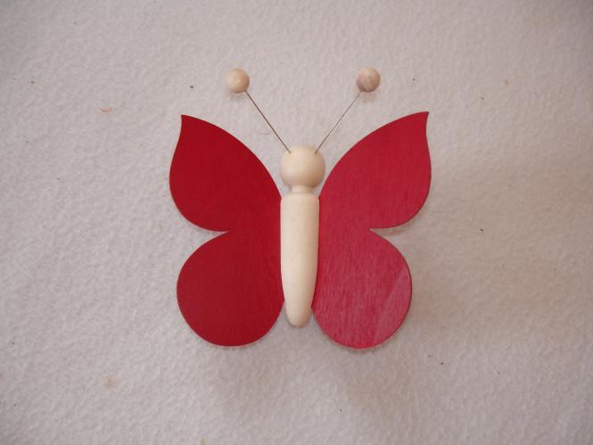 Schmetterling weinrot